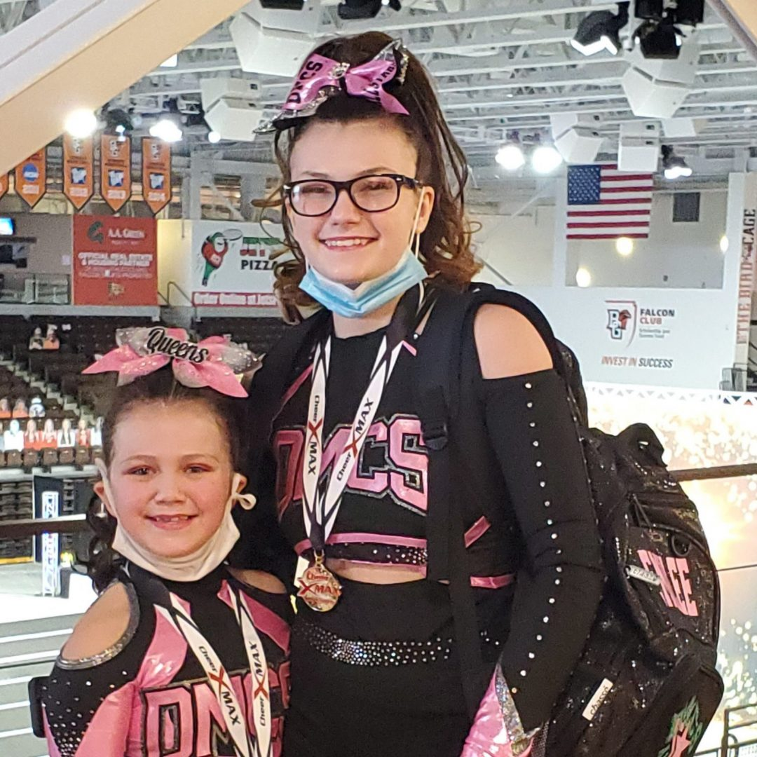 Emilee and Chloee Piasecki competitive dance and cheer DazzleMeDance program with All Kids Play youth sports grant financial assistance