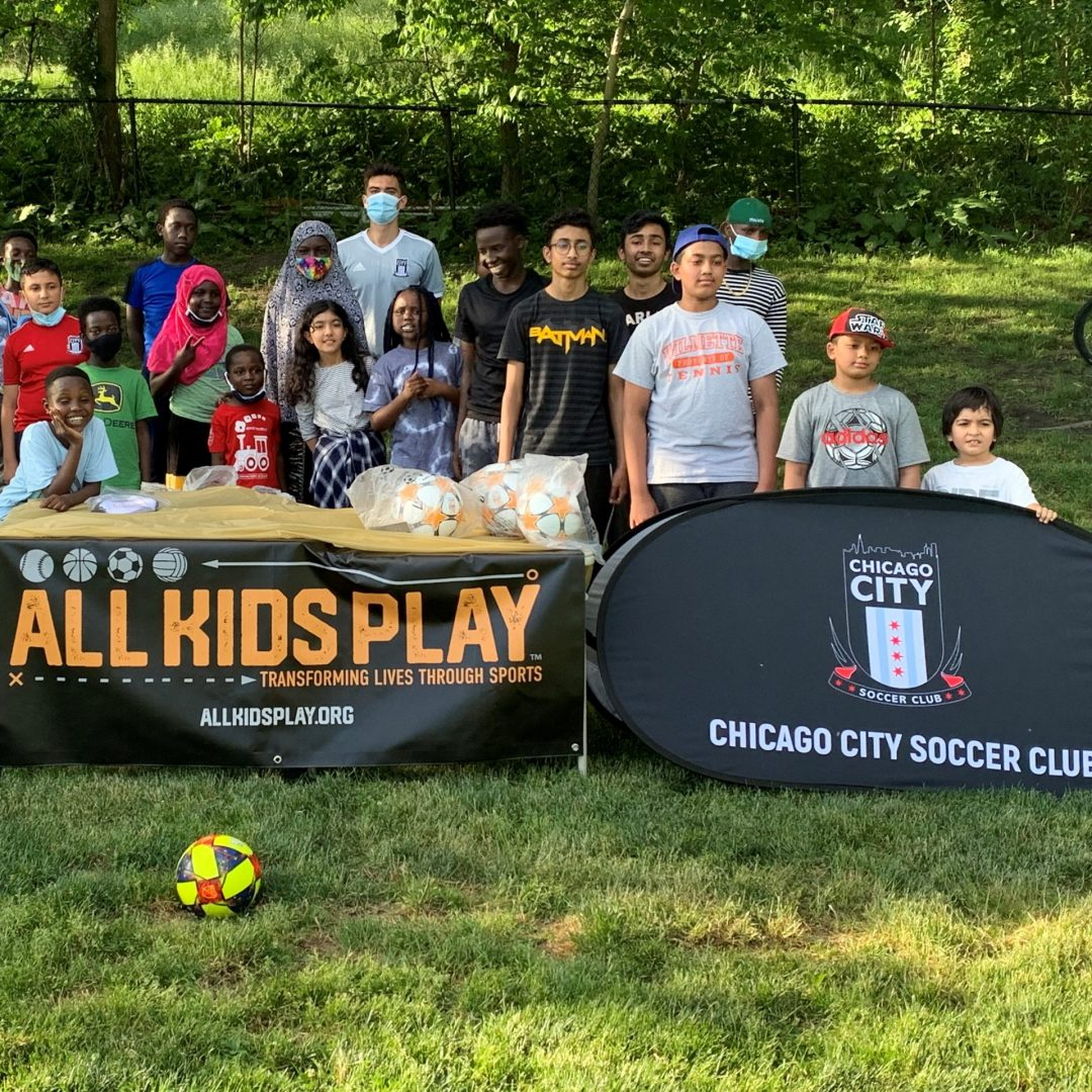 All Kids Play Refugee Soccer Program with youth soccer athletes with financial grant assistance program