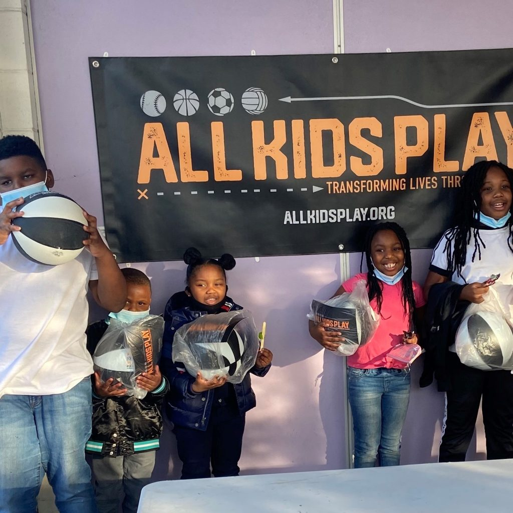 All Kids Play Bounce Back Sports Ball Giveaway event at Marillac St. Vincent