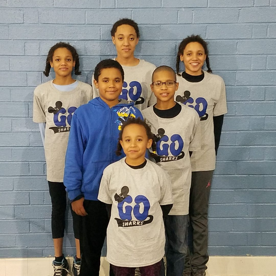 Six competitive swimming siblings from South Carolina with All Kids Play financial assistance youth sports grant